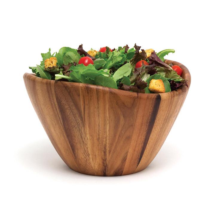 Wavy Wood Bowl