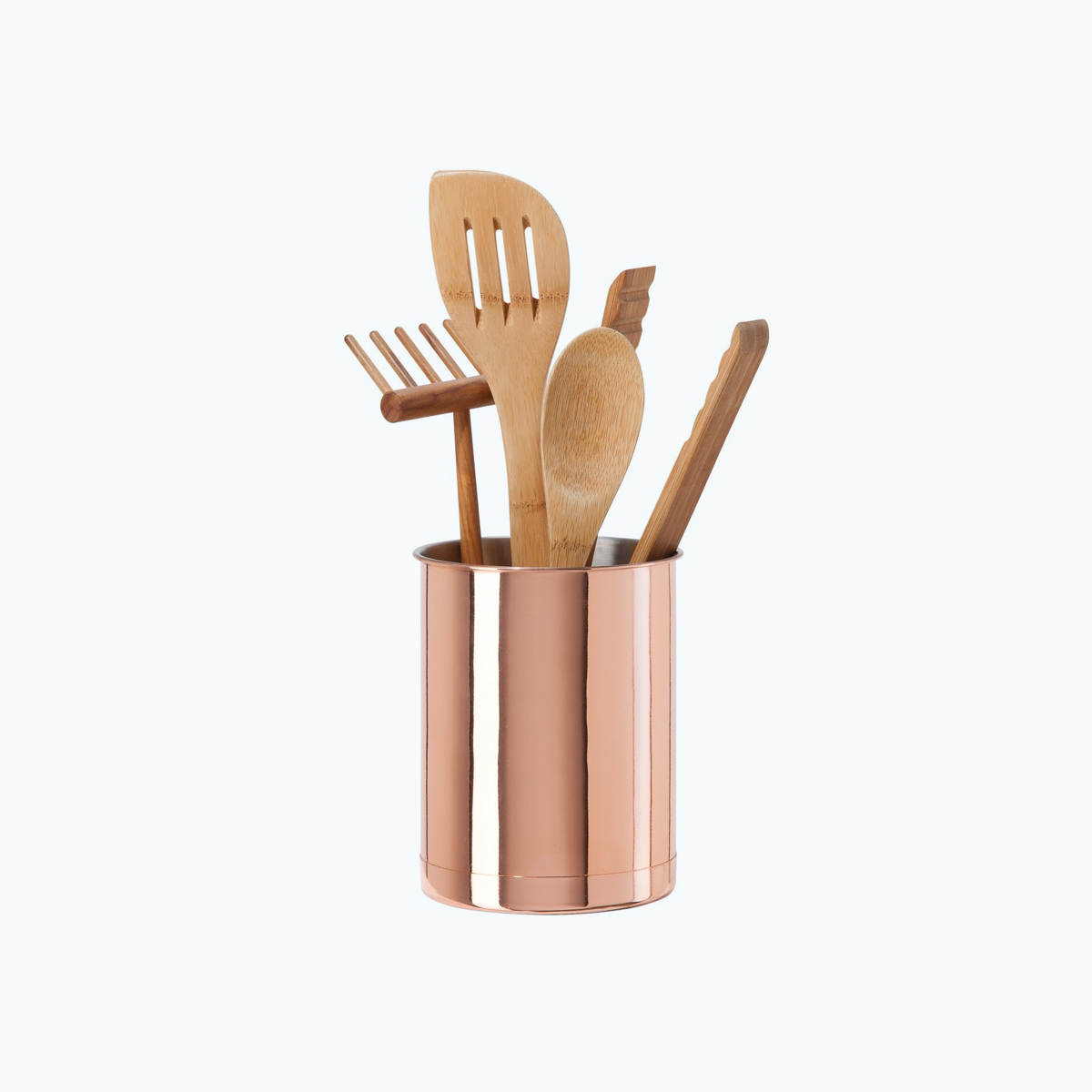 Copper Plated Utensil Holder