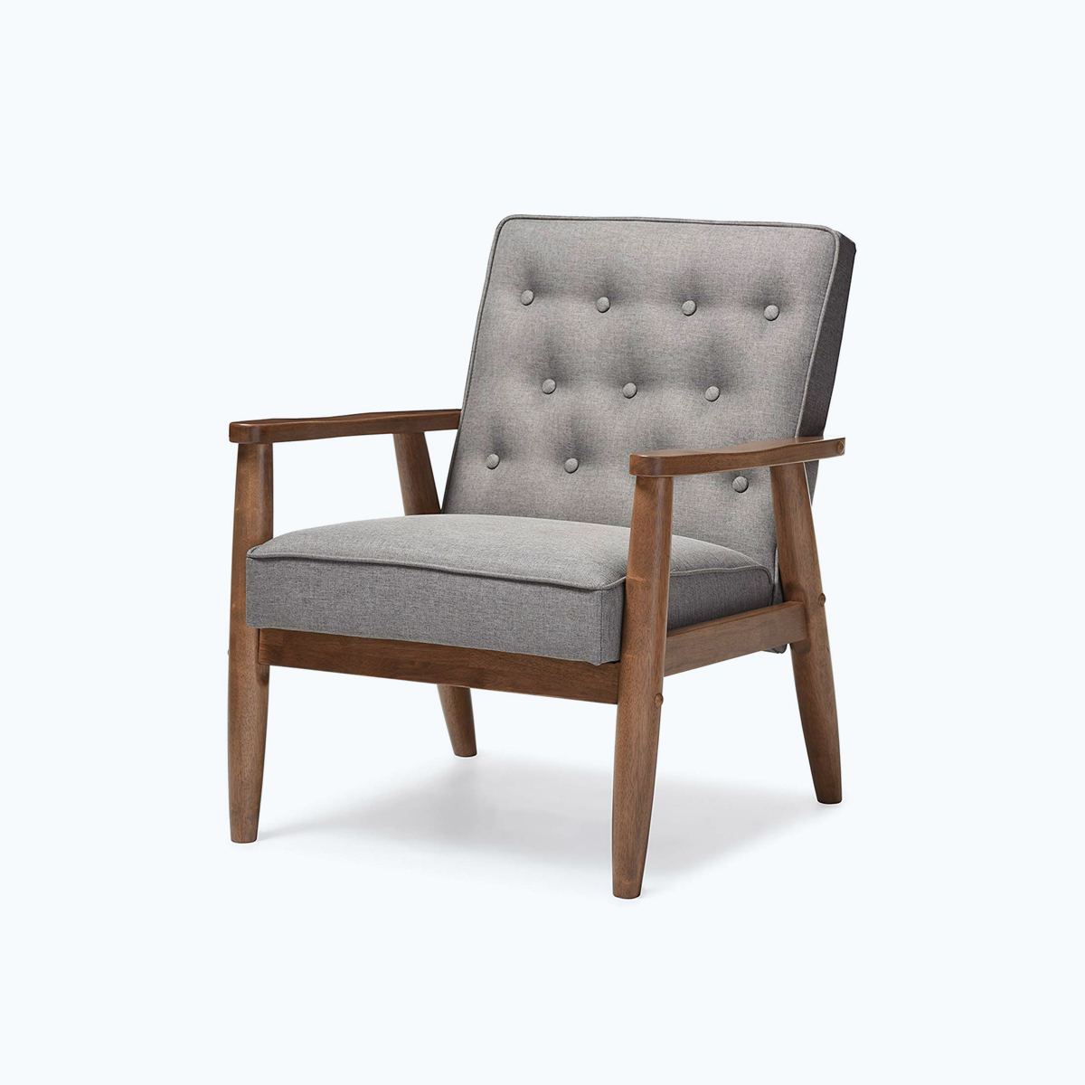 Sorrento Upholstered Wooden Lounge Chair