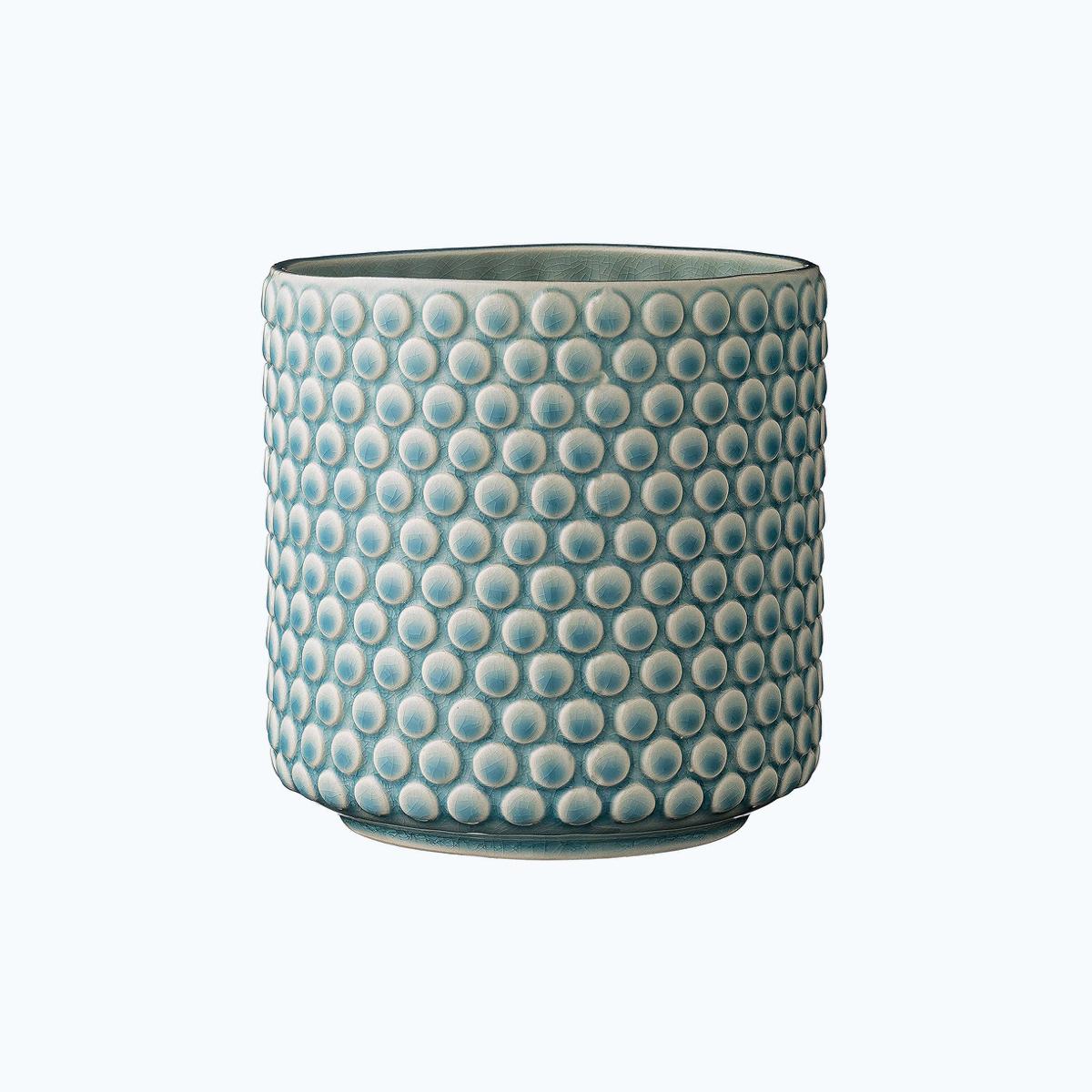 Stoneware Pot with Crackle Finish