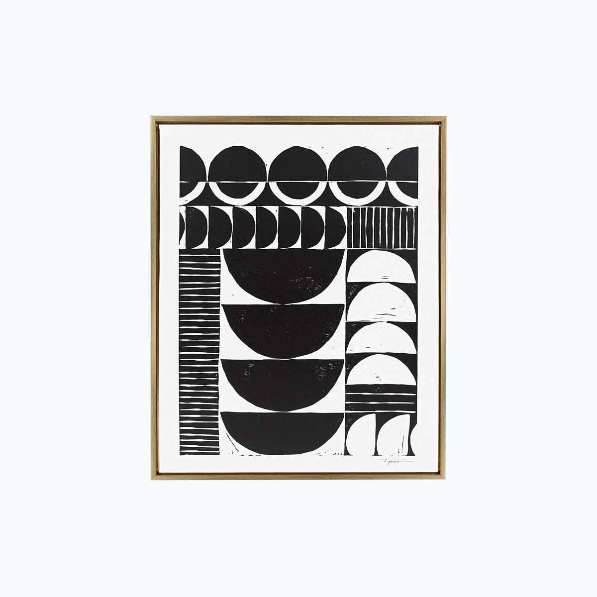 Modern Circular Block Print