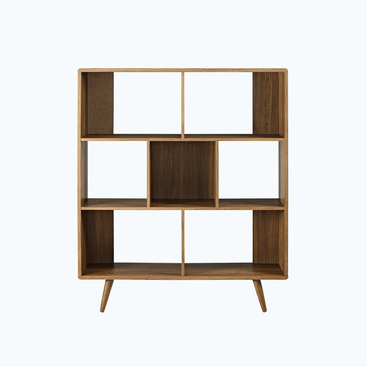 Offset Wood Bookcase, Walnut