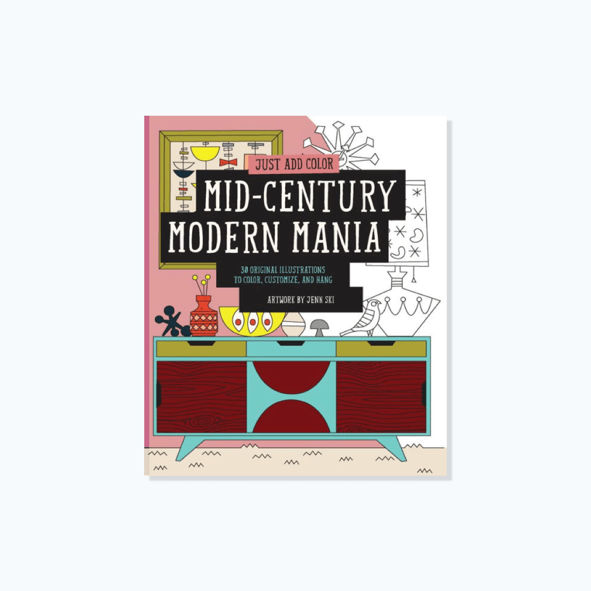 Mid-Century Mania, Original Coloring Book
