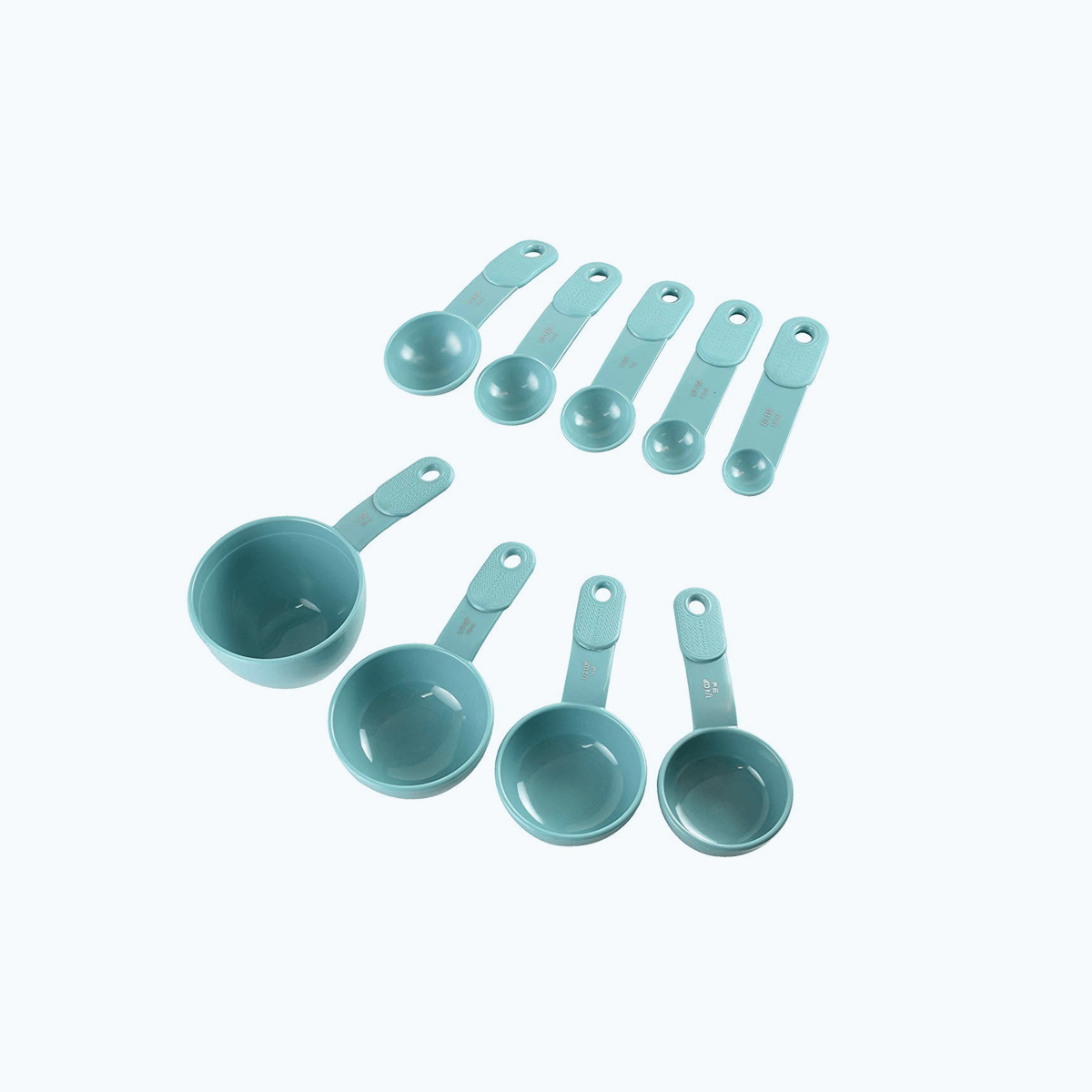9-Piece Measuring Set, Aqua Sky