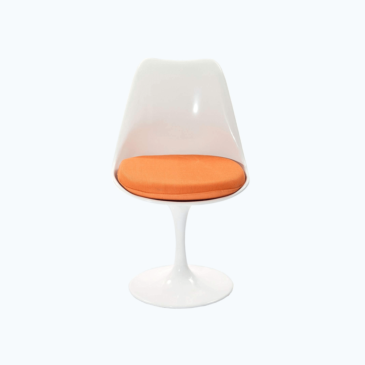 Modern Dining Side Chair with Orange Fabric