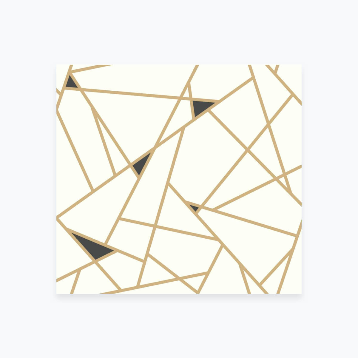 Gold and Black Geometric Wallpaper