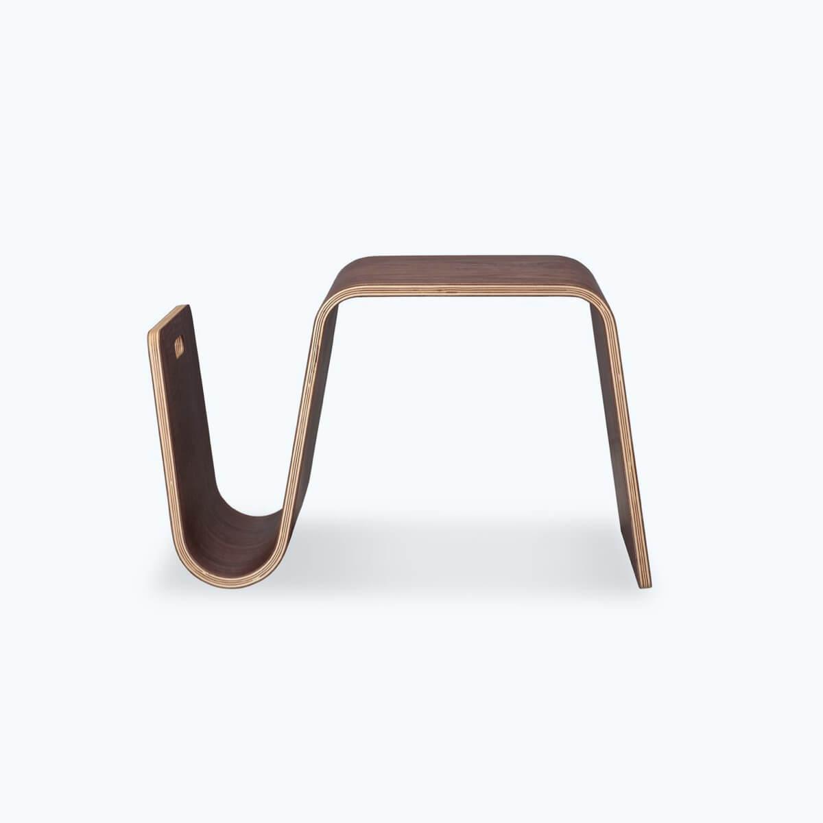 Walnut Plywood Side Table